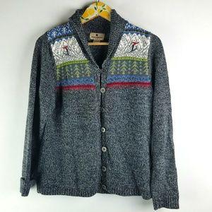 Woolrich Cardigan Ski Sweater Sz M